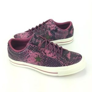 Converse One Star Ox Purple Snake Skin Shoes